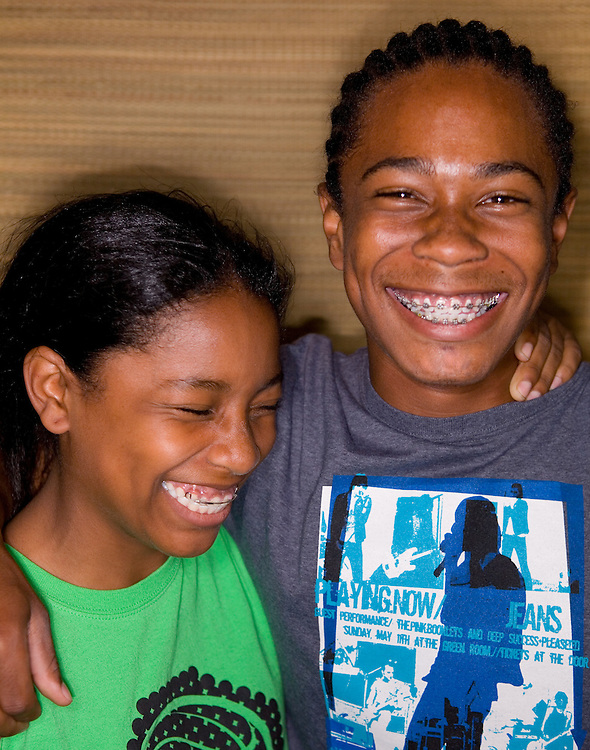 August 14, 2006; Oakland, CA, USA; Portrait of a teenage brother and sister in Oakland, CA. Photo by: Phillip Carter