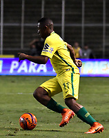 CALI - COLOMBIA - 14 - 06 - 2017: Andres Ibargüen, jugador de Atletico Nacional, durante partido de ida de la final entre Deportivo Cali y Atletico Nacional, por la Liga Aguila I-2017, jugado en el estadio Deportivo Cali (Palmaseca) de la ciudad de Cali. / Andres Ibargüen, player of Atletico Nacional, during a match of the first leg of the finals between Deportivo Cali and Atletico Nacional, for the Liga Aguila I-2017 at the Deportivo Cali (Palmaseca) stadium in Cali city. Photo: VizzorImage  / Luis Ramirez / Staff.