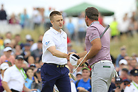Russell Knox (SCO)  win the tournament from Ryan Fox (NZL) on the playoff 18th green during Sunday's Final Round of the 2018 Dubai Duty Free Irish Open, held at Ballyliffin Golf Club, Ireland. 8th July 2018.<br /> Picture: Eoin Clarke | Golffile<br /> <br /> <br /> All photos usage must carry mandatory copyright credit (&copy; Golffile | Eoin Clarke)