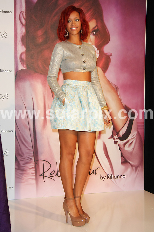 "**ALL ROUND PICTURES FROM SOLARPIX.COM**                                             **SYNDICATION RIGHTS FOR UK, AUSTRALIA, DENMARK, PORTUGAL, S. AFRICA, SPAIN & DUBAI (U.A.E) & ASIA (EXCLUDING JAPAN) ONLY**                                                                                  Caption: Rihanna Launches Her ""Reb'l Fleur"" Fragrance at Macy's Lakewood Mall on February 18, 2011 at Macy's Lakewood Mall in Lakewood, CA, USA                                                                               This pic: Rihanna                                                                                             JOB REF: 12839       PHZ       DATE: 18.02.2011                                                           **MUST CREDIT SOLARPIX.COM OR DOUBLE FEE WILL BE CHARGED**                                                                      **MUST AGREE FEE BEFORE ONLINE USAGE**                               **CALL US ON: +34 952 811 768 or LOW RATE FROM UK 0844 617 7637**"