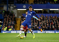 30th November 2019; Stamford Bridge, London, England; English Premier League Football, Chelsea versus West Ham United; Mason Mount of Chelsea - Strictly Editorial Use Only. No use with unauthorized audio, video, data, fixture lists, club/league logos or 'live' services. Online in-match use limited to 120 images, no video emulation. No use in betting, games or single club/league/player publications