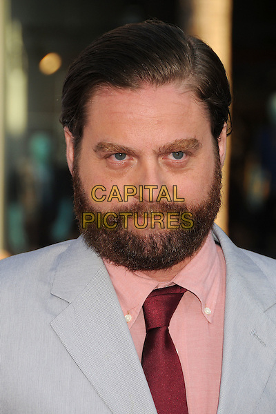 """Zach Galifianakis.""""The Campaign"""" Los Angeles Premiere held at Grauman's Chinese Theatre, Hollywood, California, USA..August 2nd, 2012.headshot portrait blue red tie pink shirt beard facial hair .CAP/ADM/BP.©Byron Purvis/AdMedia/Capital Pictures."""