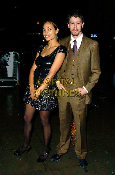 "ROSARIO DAWSON & TOBY KEBBLE.Attends the gala screening of ""Control"", Odeon Covent Garden, London, England, October 2nd 2007..full length black sequined dress green brown khaki suit.CAP/CAN.©Can Nguyen/Capital Pictures"