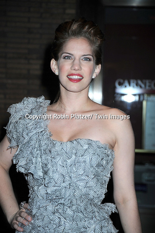 Anna Chlumsky attending The Glamour Magazine 20th Annual Women of the Year on November 8, 2010 at Carnegie Hall in New York City.