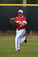 Indiana Hoosiers Christopher Lowe (26) during practice before a game against the St. Joseph's Hawks on March 7, 2015 at North Charlotte Regional Park in Port Charlotte, Florida.  Indiana defeated St. Joseph's 3-2.  (Mike Janes/Four Seam Images)