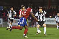 Jon Nolan of Grimsby Town brings the ball forward during the Vanarama National League match between Aldershot Town and Grimsby Town at the EBB Stadium, Aldershot, England on 5 April 2016. Photo by Paul Paxford / PRiME Media Images.