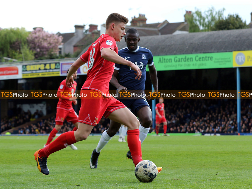 Harvey Barnes of MK Dons in action during Southend United vs MK Dons, Sky Bet EFL League 1 Football at Roots Hall on 17th April 2017