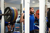 Will Vaughan of Bath Rugby in the gym. Bath Rugby pre-season training on July 2, 2018 at Farleigh House in Bath, England. Photo by: Patrick Khachfe / Onside Images