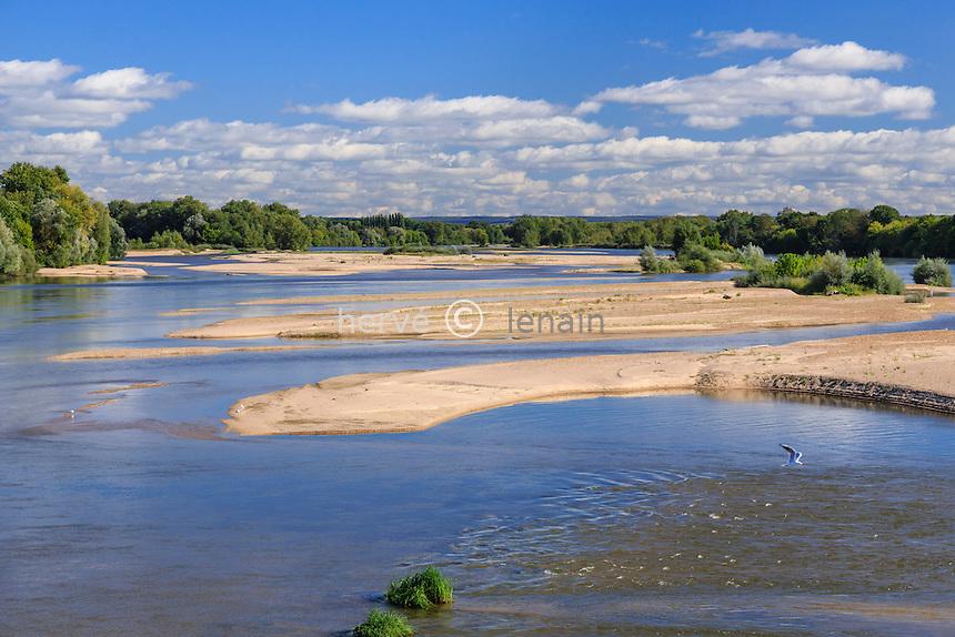 France, Nièvre (58), Pouilly-sur-Loire, les îles de la Loire // France, Nievre, Pouilly sur Loire, sandbanks on Loire