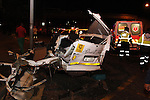 DURBAN - 5 September 2013 - All that remains of a mini-bus taxi that was hit by a lorry in a horror crash that claimed the lives of 24 people were killed when a lorry's brakes failed on Field's Hill in Pinetown and ploughed through four taxis and a car. Picture: Allied Picture Press/APP