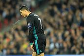 1st November 2017, Wembley Stadium, London, England; UEFA Champions League, Tottenham Hotspur versus Real Madrid; Cristiano Ronaldo of Real Madrid spits as his attack breaks down
