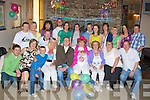 SURPRISE: What a surprise Martina Brosnan Spa Road, Tralee got as she arrived at Kirbys Brogue Inn Tralee on Friady night as many of her family and friend sang her Happy 40th Birthday (Martina seated 4th from the right).....