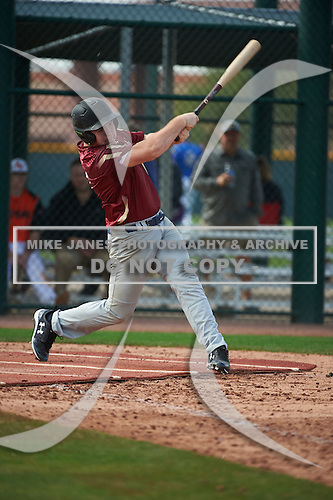 Walter Wise (17) of Eau Gallie High School in Melbourne Beach, Florida during the Under Armour All-American Pre-Season Tournament presented by Baseball Factory on January 14, 2017 at Sloan Park in Mesa, Arizona.  (Art Foxall/Mike Janes Photography)