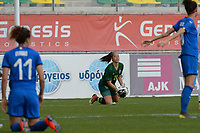 20190304 - LARNACA , CYPRUS : Thai goalkeeper Darunee Sornpao pictured during a women's soccer game between Italy and Thailand , on Monday 4 March 2019 at the AEK Arena in Larnaca , Cyprus . This is the third game in group B for both teams during the Cyprus Womens Cup 2019 , a prestigious women soccer tournament as a preparation on the FIFA Women's World Cup 2019 in France . PHOTO SPORTPIX.BE | STIJN AUDOOREN