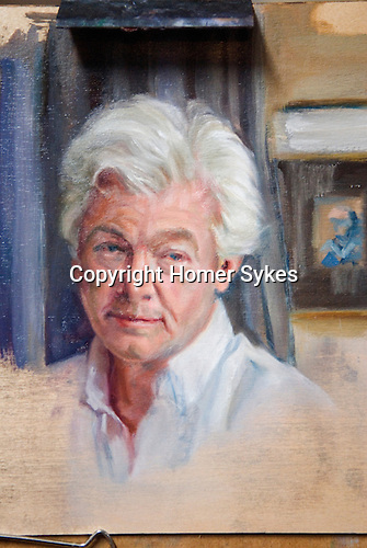 Portrait of Homer Sykes by Christine Choa London Sept 2010 ( unfinished third draft) all additional work now rubbed out. Christine can be contacted via the Chelsea Arts Club, London.
