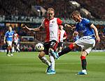 19.09.2019 Rangers v Feyenoord: Borna Barisic and Rick Karsdorp