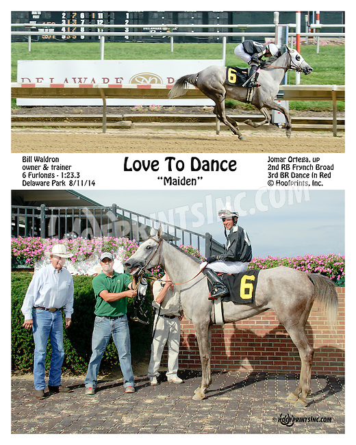Love To Dance winning at Delaware Park on 8/11/14