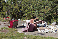 Flytipping at the rear of a local retail park UK..©shoutpictures.com..john@shoutpictures.com