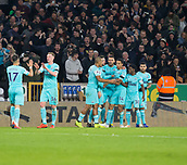 11th February 2019, Molineux, Wolverhampton, England; EPL Premier League football, Wolverhampton Wanderers versus Newcastle United; Isaac Hayden of Newcastle United celebrates with his team after scoring in the 56th minute 0-1
