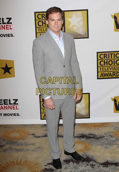 Michael C.  Hall.1st Annual Critics' Choice Television Awards Luncheon held at The Beverly Hills Hotel, Beverly Hills, California, .20th June 2011..full length grey gray blue shirt   black shoes .CAP/ADM/KB.©Kevan Brooks/AdMedia/Capital Pictures.