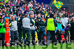 Kerry players after defeating Tyrone in the All Ireland Semi Final at Croke Park on Sunday.