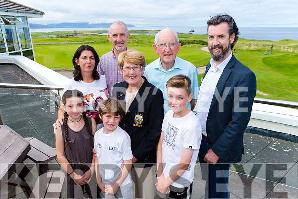 At the Tralee Golf Club Lady President's Prize at Barrow on Sunday were Lady President Martha Corcoran with Launa Corcoran, Liam Corcoran, Sam Cororan, Imelda Cororan, Aidan Cororan, Padraig Cororan and Declan Cororan