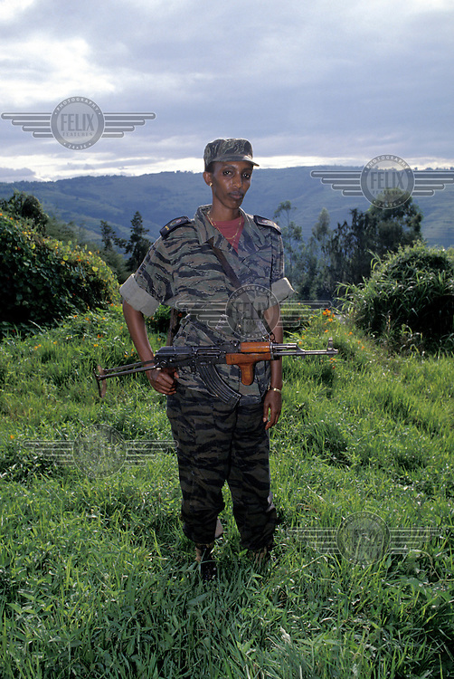 March 1994 Rwanda Rose Kabuye Of The Rpf Rwandan Patriotic Front