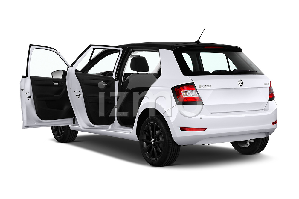 Car images close up view of a 2019 Skoda Fabia Ambition 5 Door Hatchback doors