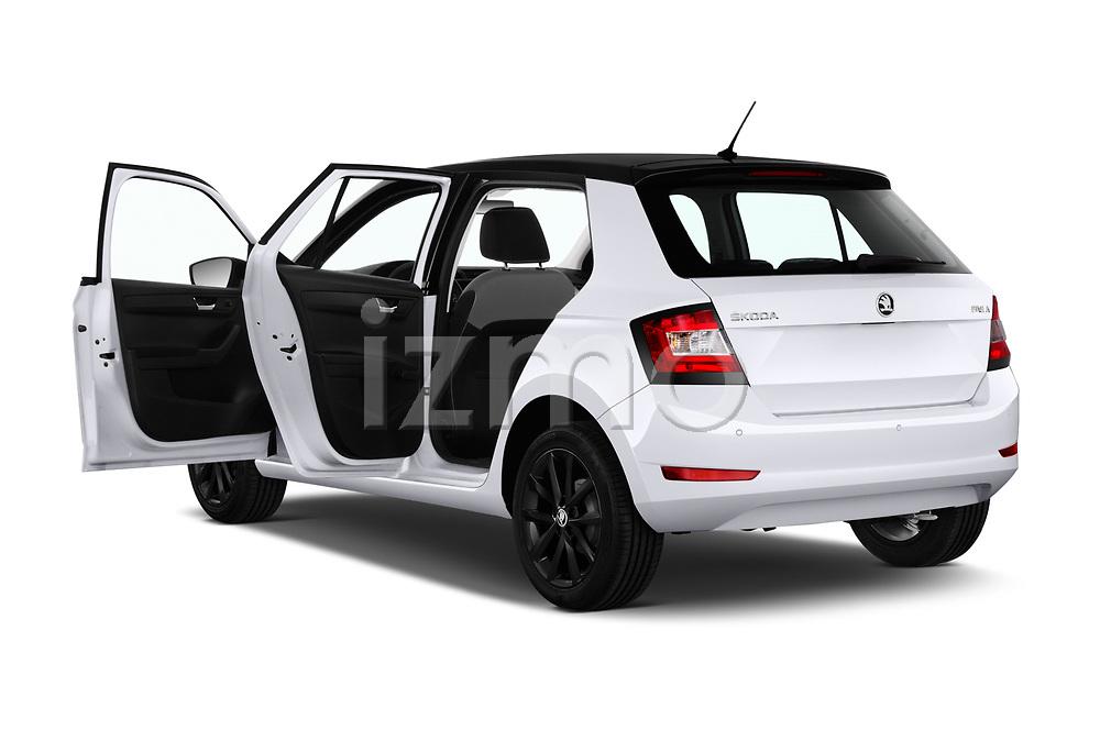 Car images close up view of a 2019 Skoda Fabia Ambition 5 Door Hatchback doors