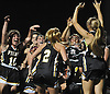 St. Anthony's varsity girls lacrosse teammates celebrate after their 11-7 win over Sacred Heart Academy in the Nassau-Suffolk CHSAA varsity girls lacrosse Class AAA final at Adelphi University on Thursday, May 18, 2017.