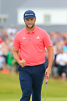 Jon Rahm (ESP) sinks his birdie putt on the 17th green during Sunday's Final Round of the Dubai Duty Free Irish Open 2019, held at Lahinch Golf Club, Lahinch, Ireland. 7th July 2019.<br /> Picture: Eoin Clarke | Golffile<br /> <br /> <br /> All photos usage must carry mandatory copyright credit (© Golffile | Eoin Clarke)