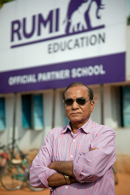 30 November 2011:  The Correspondent of Rama Sri Chakri Vidya Niketan school which is a partner school with the new Rumi Education education model run by the Richard Chandler corporation in Hyderabad, India. Pictures by Graham Crouch