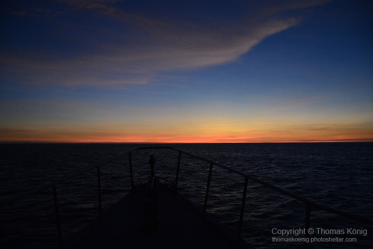 Apo Reef, Sulu Sea -- After sunset on the Sulu Sea.