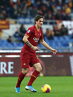 Football, Serie A: AS Roma - Brescia FC, Olympic stadium, Rome, November 24, 2019. <br /> Roma's Nicolò Zaniolo in action during the Italian Serie A football match between Roma and Brescia at Olympic stadium in Rome, on November 24, 2019. <br /> UPDATE IMAGES PRESS/Isabella Bonotto