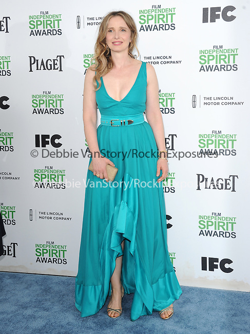 Julie Delpy<br />  attends The 2014 Film Independent Spirit Awards held at Santa Monica Beach in Santa Monica, California on March 01,2014                                                                               © 2014 Hollywood Press Agency
