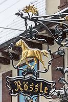 Europe/Allemagne/Bade-Würrtemberg/Forêt Noire/Env de Gengenbach:  Enseigne restaurant