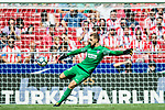 Goalkeeper Jan Oblak of Atletico de Madrid in action during the La Liga 2017-18 match between Atletico de Madrid and Sevilla FC at the Wanda Metropolitano on 23 September 2017 in Madrid, Spain. Photo by Diego Gonzalez / Power Sport Images