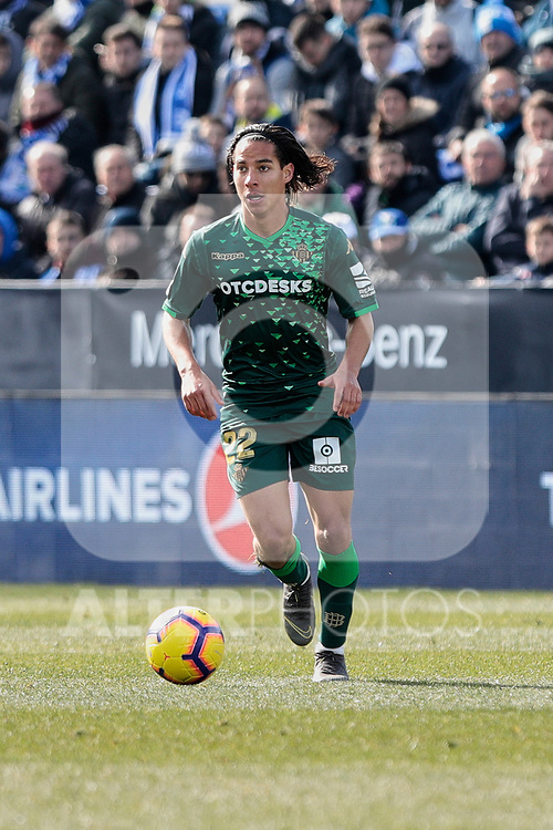 Real Betis Balompie's Diego Lainez during La Liga match between CD Leganes and Real Betis Balompie at Butarque Stadium in Madrid, Spain. February 10, 2019. (ALTERPHOTOS/A. Perez Meca)