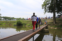 Michael Block (USA) crosses the footbridge to the 9th tee during Thursday's Round 1 of the 2014 PGA Championship held at the Valhalla Club, Louisville, Kentucky.: Picture Eoin Clarke, www.golffile.ie: 6th August 2014