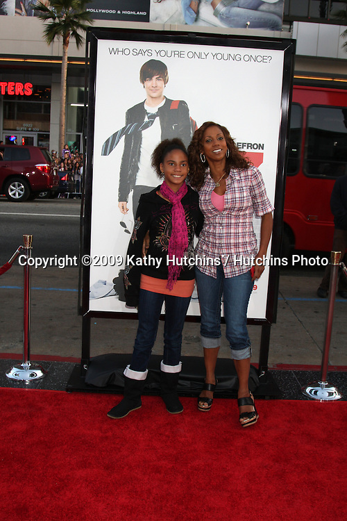 Holly Robinson Peete & Daughter arriving at the 17 Again Premiere at Grauman's Chinese Theater in Los Angeles, CA on April 14, 2009.©2009 Kathy Hutchins / Hutchins Photo....                .