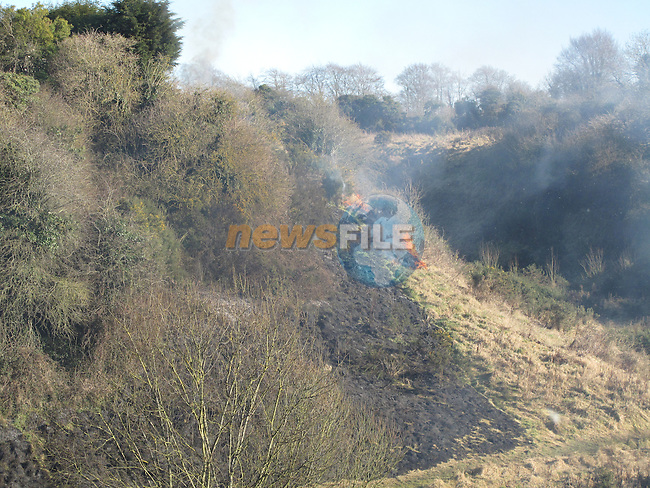 Drogheda fire service attended a gorse fire in the Dale during the week..Picture Fran Caffrey/Newsfile.ie
