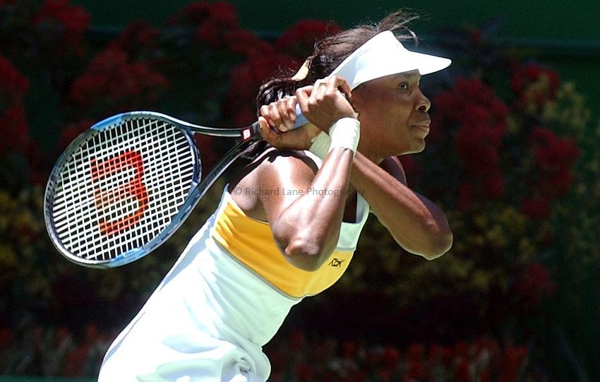 Australian Open Tennis 2003.21/01/2003.Venus Williams  v Daniela Hantuchova .Venus Williams