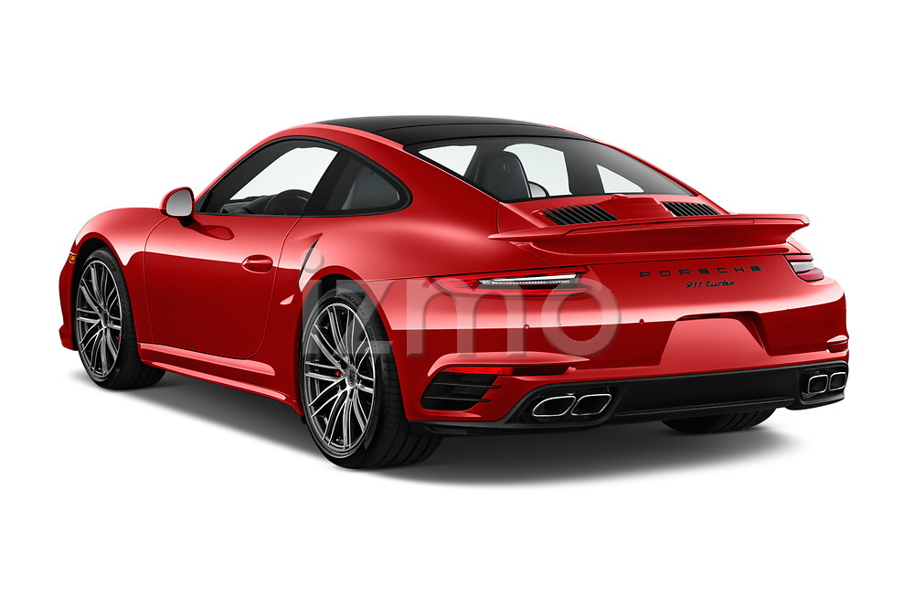 Car pictures of rear three quarter view of 2019 Porsche 911 Turbo-Coupe 2 Door Coupe Angular Rear