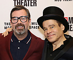 Duncan Sheik and Steven Sater attends the opening night performance of the MCC Theater's 'Alice By Heart' at The Robert W. Wilson Theater Space on February 26, 2019 in New York City.