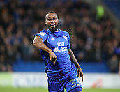 31st October 2017, Cardiff City Stadium, Cardiff, Wales; EFL Championship football, Cardiff City versus Ipswich Town; Junior Hoilett of Cardiff City celebrates scoring Cardiff City's 1st goal of the game