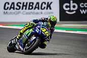 June 9th 2017, Circuit de Catalunya, Barcelona, Spain; Catalunya MotoGP; Friday Practice Session; Valentino Rossi of Movistar Yamaha Team testing the new chicane of the circuit