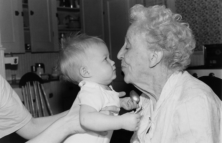 One year old with her Grandmother. (Photo by Maureen Keating/CQ Roll Call via Getty Images)