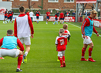 Fleetwood Town mascots warm up with the players<br /> <br /> Photographer Alex Dodd/CameraSport<br /> <br /> The EFL Sky Bet League One - Fleetwood Town v Accrington Stanley - Saturday 15th September 2018  - Highbury Stadium - Fleetwood<br /> <br /> World Copyright &copy; 2018 CameraSport. All rights reserved. 43 Linden Ave. Countesthorpe. Leicester. England. LE8 5PG - Tel: +44 (0) 116 277 4147 - admin@camerasport.com - www.camerasport.com