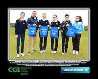 Shannon GC team with Bank of Ireland Official Morgan Whelan and CGI Participation Officer Jennifer Hickey with Junior golfers across Munster practicing their skills at the regional finals of the Dubai Duty Free Irish Open Skills Challenge at the Ballykisteen Golf Club, Limerick Junction, Co. Tipperary. 16/04/2016.<br /> Picture: Golffile | Thos Caffrey<br /> <br /> <br /> <br /> <br /> <br /> All photo usage must carry mandatory copyright credit (© Golffile | Thos Caffrey)