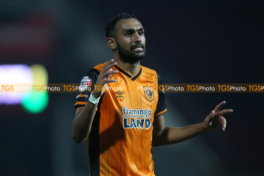 Ahmed Elmohamady of Hull City celebrates at the final whistle during Brentford vs Hull City, Sky Bet Championship Football at Griffin Park